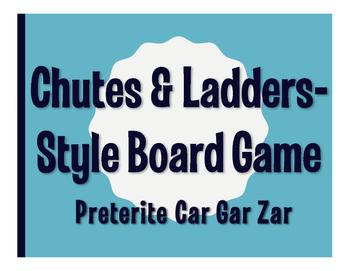 Spanish Preterite Car Gar Zar Chutes and Ladders-Style Gmae