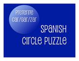 Spanish Preterite Car Gar Zar Circle Puzzle