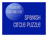 Spanish Preterite Car Gar Zar Circle Puzzle