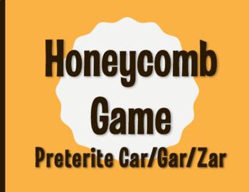 Spanish Preterite Car Gar Zar Honeycomb Partner Game