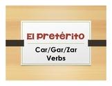 Spanish Preterite Car Gar Zar Notes