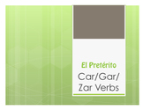 Spanish Preterite Car Gar Zar Notes