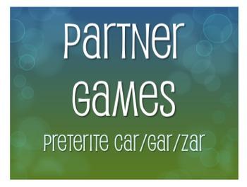 Spanish Preterite Car Gar Zar Partner Games
