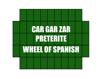 Spanish Preterite Car Gar Zar Wheel of Spanish