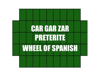 Spanish Preterite Car Gar Zar Wheel of Spanish