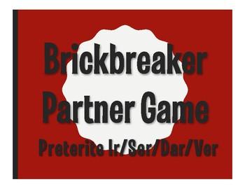 Spanish Preterite Ir Ser Dar Ver Brickbreaker Partner Game