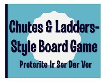 Spanish Preterite Ir Ser Dar Ver Chutes and Ladders-Style Game