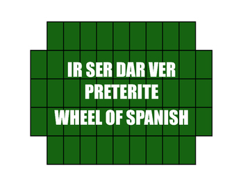Spanish Preterite Ir Ser Dar Ver Wheel of Spanish