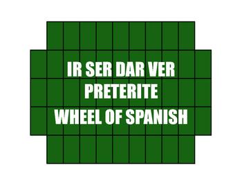 Spanish Preterite Ir Ser Dar Ver Wheel of Spanish