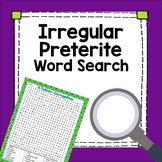 Spanish Preterite Tense Irregular Verbs Word Search Worksheet Fun