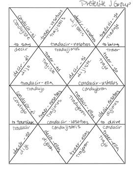 Spanish Preterite J Group Jigsaw Puzzle