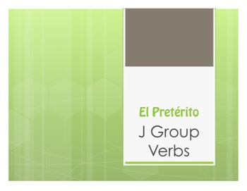 Spanish Preterite J Group Notes