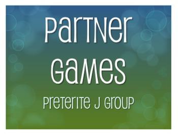 Spanish Preterite J Group Partner Games