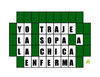 Spanish Preterite J Group Wheel of Spanish