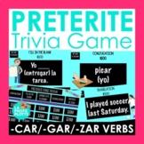 Preterite Tense Jeopardy-Style Trivia Game (-CAR/-GAR/-ZAR Verbs Only!) |Spanish