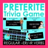 Preterite Tense Jeopardy-Style Trivia Game (REGULAR -ER/-IR VERBS ONLY)
