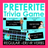 Preterite Tense Jeopardy-Style Trivia Game (REGULAR -ER/-I