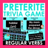 Preterite Tense Jeopardy-Style Trivia Game (REGULAR VERBS
