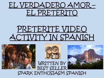 Preterite Tense Love Story Video Activity in Spanish