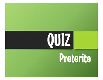 Spanish Preterite Quiz