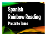 Spanish Preterite Rainbow Reading