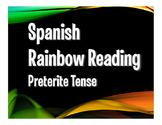 Spanish Preterite Rainbow Reading