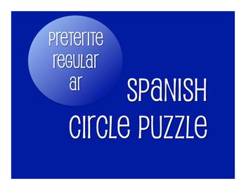 Spanish Preterite Regular AR Circle Puzzle