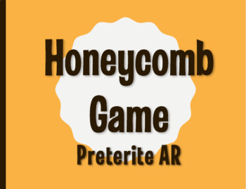 Spanish Preterite Regular AR Honeycomb Partner Game
