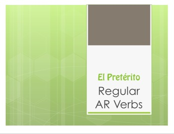 Spanish Preterite Regular AR Notes