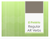 Spanish Preterite Regular AR Notes With Video for Distance Learning