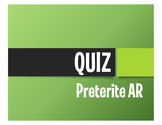 Spanish Preterite Regular AR Quiz