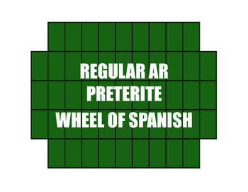 Spanish Preterite Regular AR Wheel of Spanish