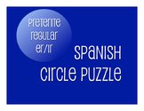 Spanish Preterite Regular ER and IR Circle Puzzle