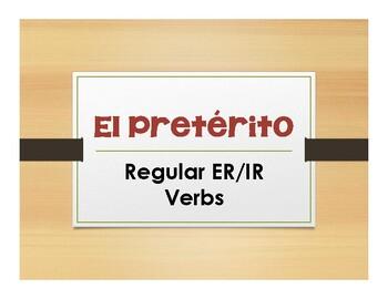 Spanish Preterite Regular ER and IR Notes