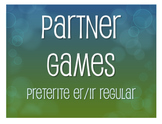 Spanish Preterite Regular ER and IR Partner Games