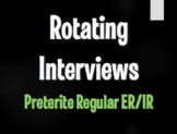 Spanish Preterite Regular ER and IR Rotating Interviews