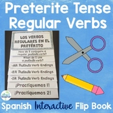 Spanish Preterite Tense Regular Verbs Editable Flip Book