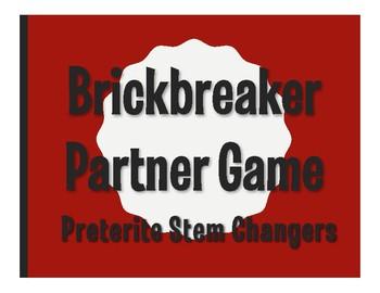 Spanish Preterite Stem Changer Brickbreaker Partner Game