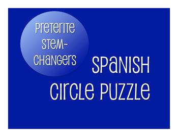 Spanish Preterite Stem Changer Circle Puzzle