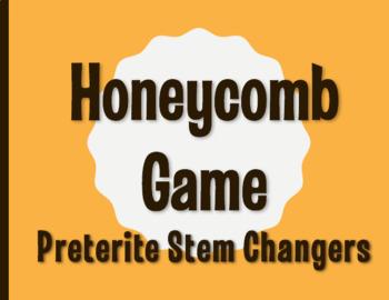 Spanish Preterite Stem Changer Honeycomb Partner Game