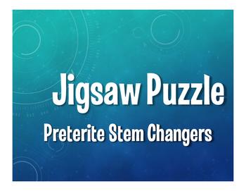 Spanish Preterite Stem Changer Jigsaw Puzzle