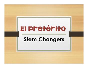 Spanish Preterite Stem Changer Notes