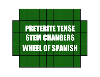 Spanish Preterite Stem Changer Wheel of Spanish