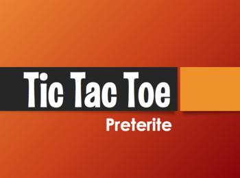 Spanish Preterite Tic Tac Toe Partner Game