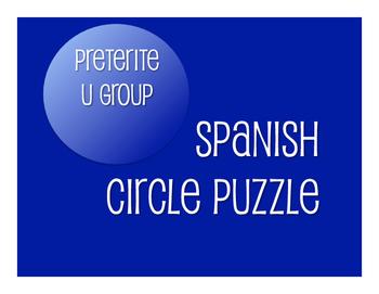 Spanish Preterite U Group Circle Puzzle