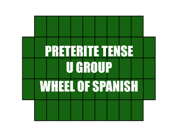 Spanish Preterite U Group Wheel of Spanish