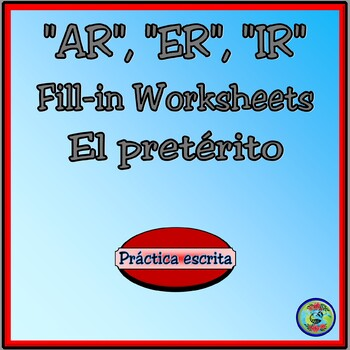 Preterite Tense Verb Conjugation Charts and Worksheets