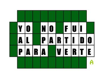 Spanish Preterite Wheel of Spanish