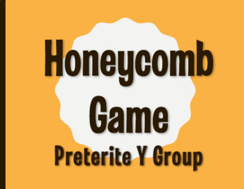 Spanish Preterite Y Group Honeycomb Partner Game
