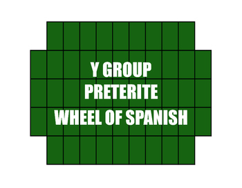 Spanish Preterite Y Group Wheel of Spanish